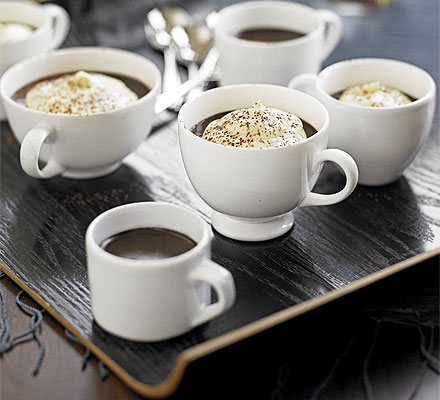 Chocolate & coffee truffle pots