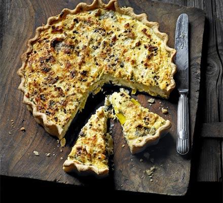 Leek, ricotta & Gruyère tart