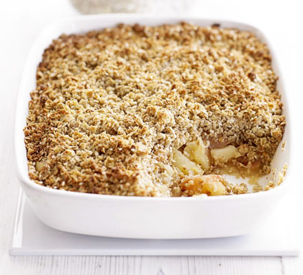 Spicy apple crumble