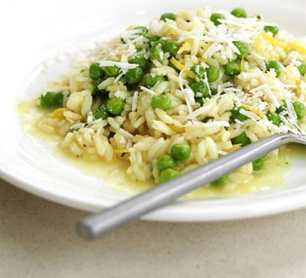 Lemon & pea risotto