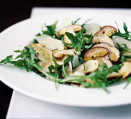 Cep, rocket & Parmesan salad