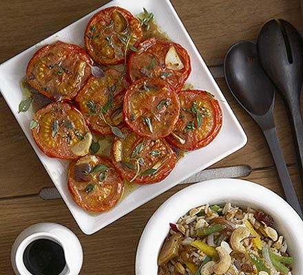 Honey & thyme tomatoes