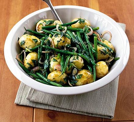 Minted potato & green bean salad