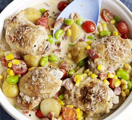 Summer chicken one-pot