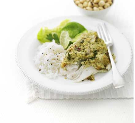 Nutty crusted fish