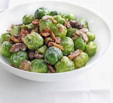 Creamed sprouts