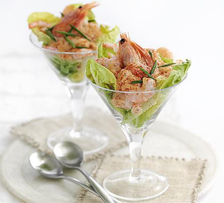 Classic prawn cocktail