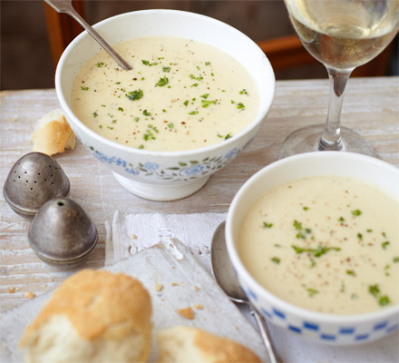 Peppered potato soup
