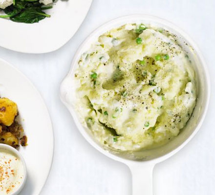 Pea & potato crush