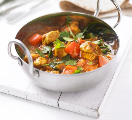 Healthier chicken balti