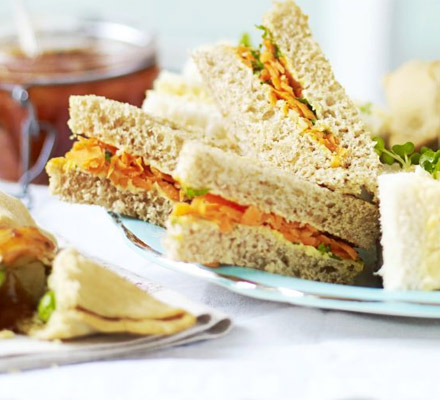 Carrot & raisin sandwiches