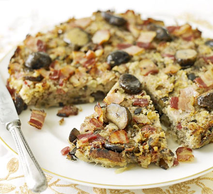 Chestnut & bacon cake