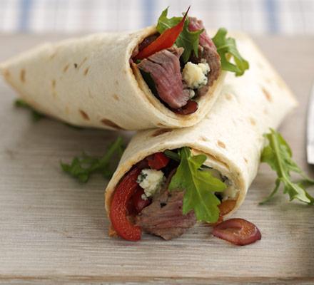 10-minute steak & blue cheese wrap