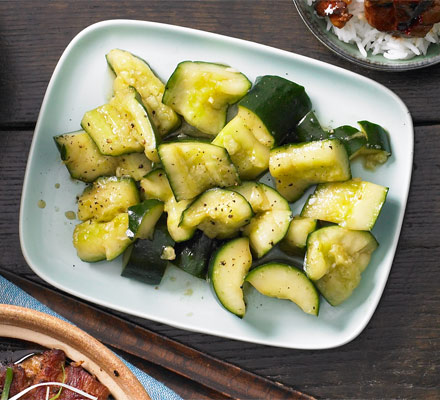 Smacked cucumber pickles