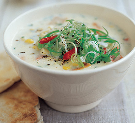 Spiced pepper & corn soup