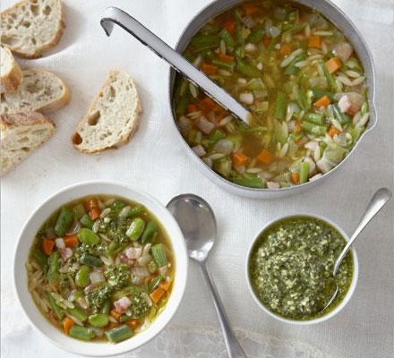 Green bean minestrone