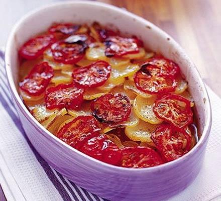 Annie's potato & tomato bake