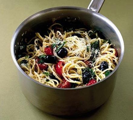 Spring spaghetti