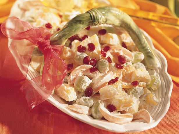 Fresh Fruit Salad with Creamy Dressing