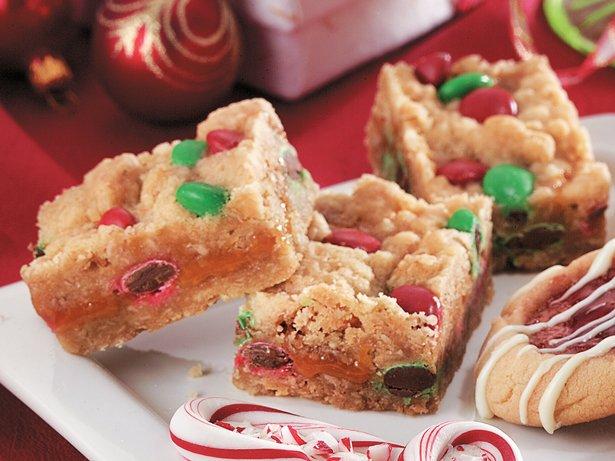 Holiday Caramel Candy Bars