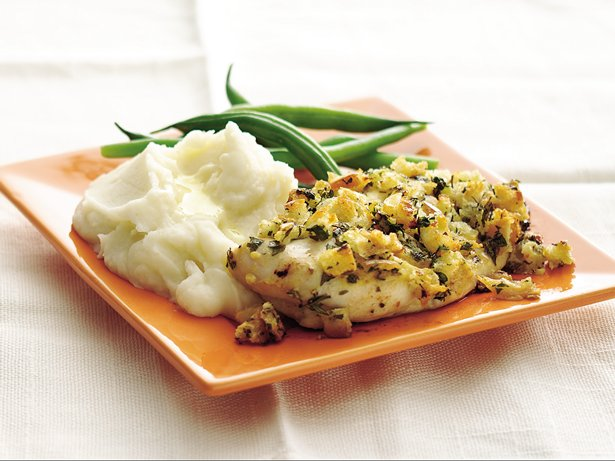 Herbed Mustard-Coated Chicken