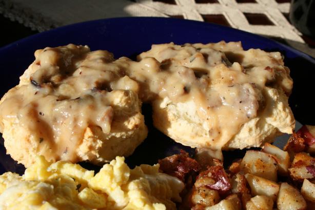 Traditional Biscuits N' Gravy (W/Sausage - Gluten Free)