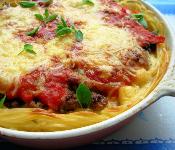 Super Baked Spaghetti Pie