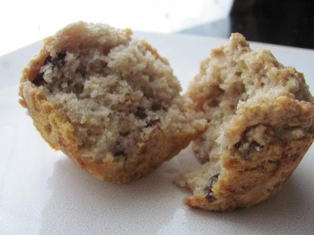 Sourdough Oatmeal Raisin Muffins