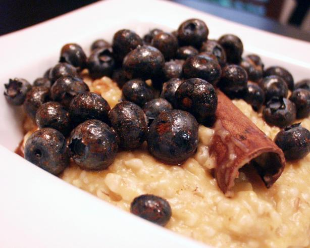 Cinnamon, Pumpkin and Blueberry Oatmeal