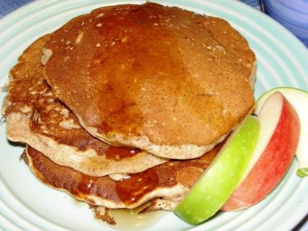 Apple and Flax Pancakes