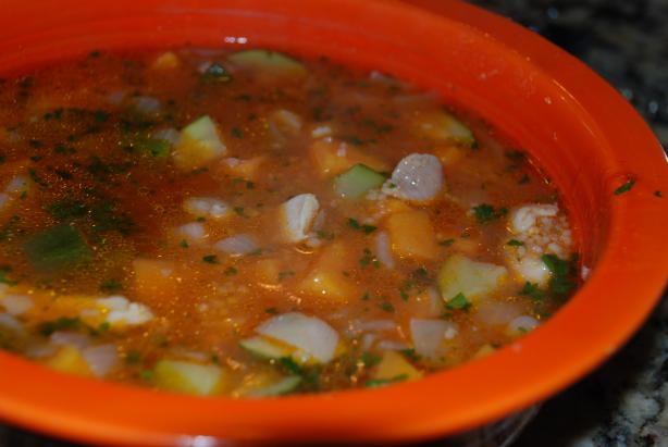 Moroccan Chicken and Couscous Soup