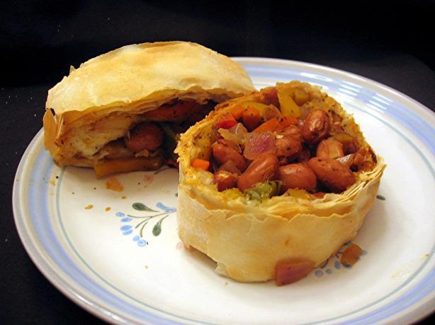 Veggie & Bean Strudel
