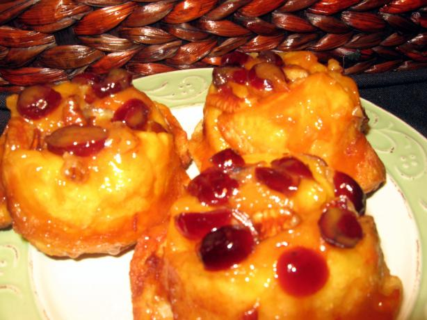 Orange-Glazed Cranberry Crowns
