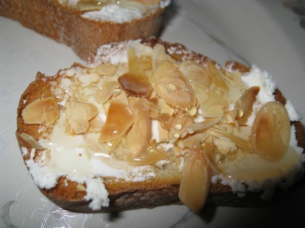 Goat Cheese, Almond, and Honey Tartine