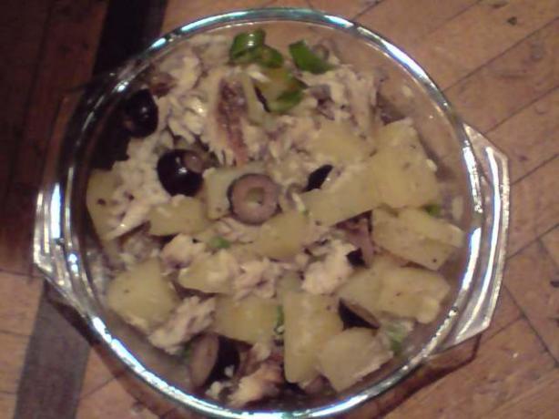 Smoked Wahoo Potato Salad
