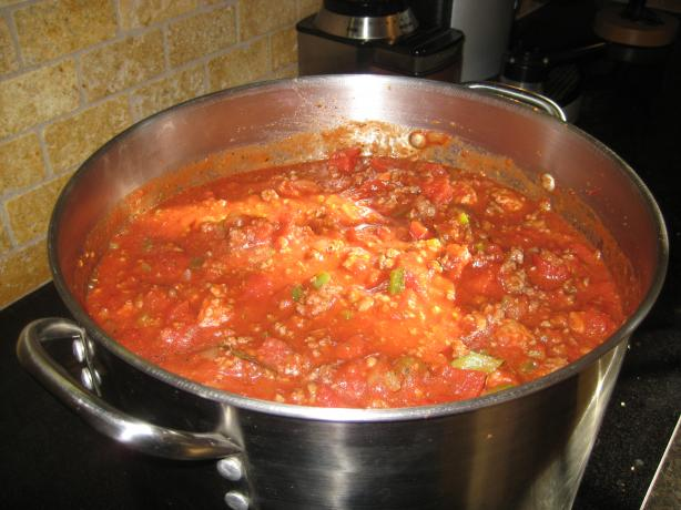 Chris & Cheryl's Mega Spaghetti Sauce