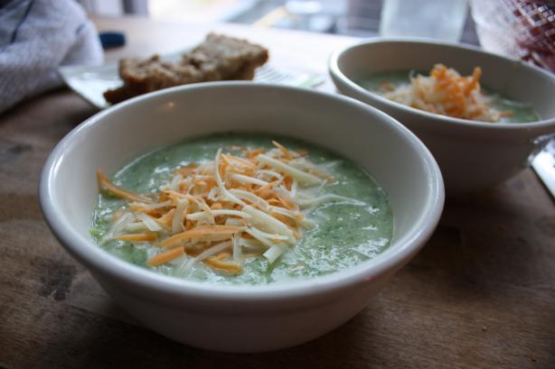Broccoli Soup With Sharp Cheddar