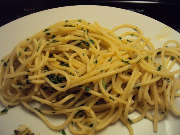 Spaghetti With Parsley Butter Sauce