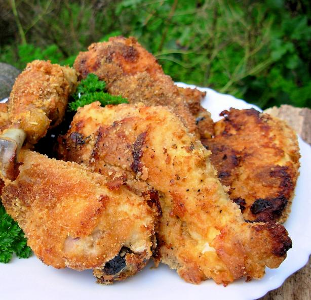Bonnie's Twice Cooked Oven Fried Chicken