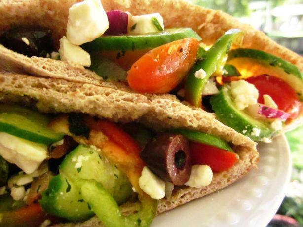 Greek Salad in a Pita
