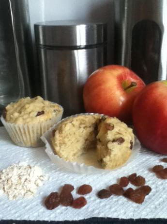 Apple Oat Raisin Muffins