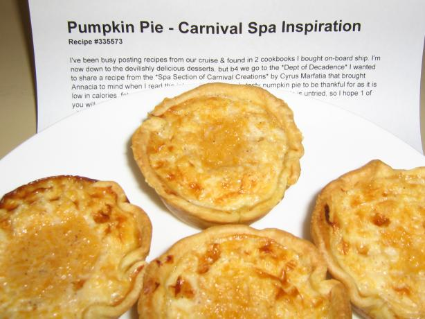 Pumpkin Pie - Carnival Spa Inspiration