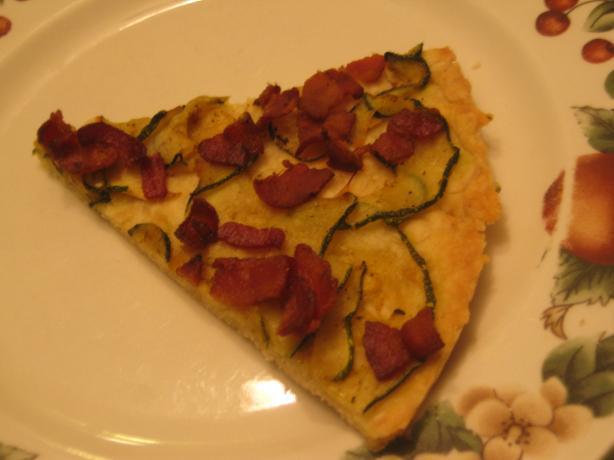 Zucchini Tarte With Bacon
