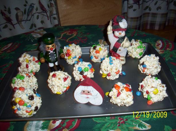 Holiday M&m's Popcorn Balls