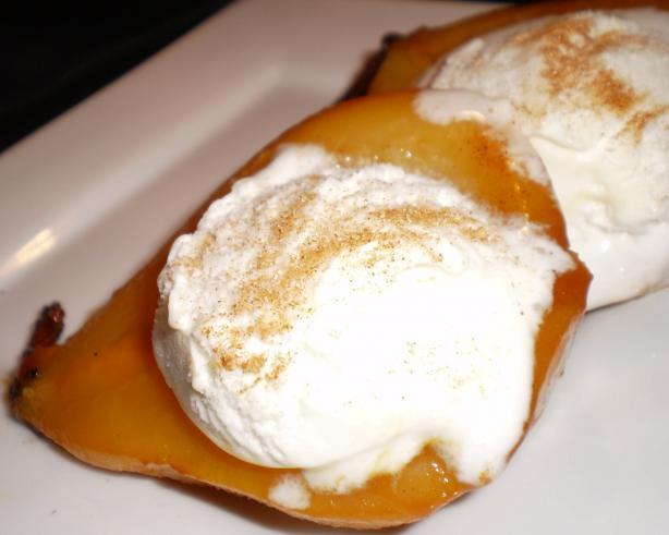 Apricot-Glazed Pears