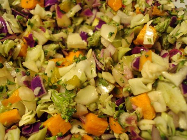 Citrus Spiked Jicama and Carrot Slaw