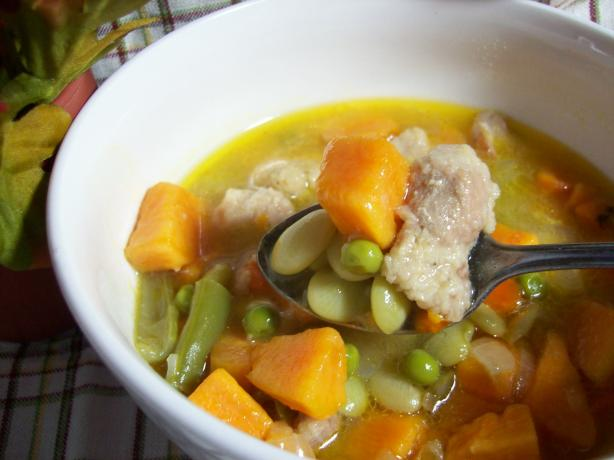 Sweet Potato and Pork Soup