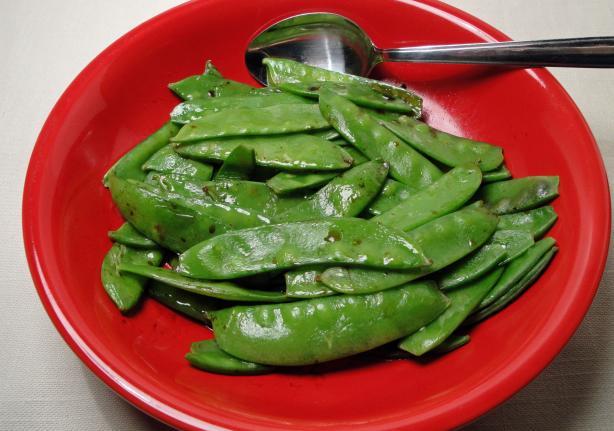 Microwave Snow Peas