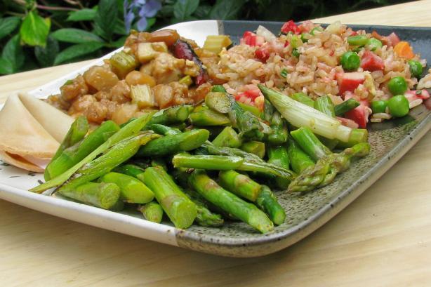 Sesame-Glazed Asparagus