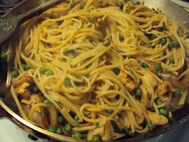 Spaghettini With Smothered Onions